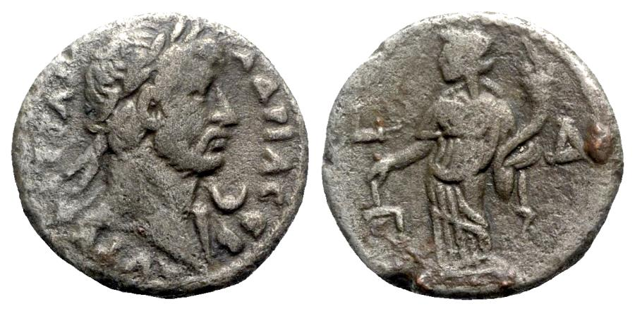 Ancient Coins - Hadrian (117-138). Egypt, Alexandria. BI Tetradrachm - year 4 - R/ Dikaiosyne