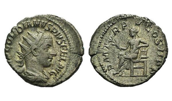 Ancient Coins - Gordian III (238-244). AR Antoninianus. Rome, 242. R/ Apollo seated
