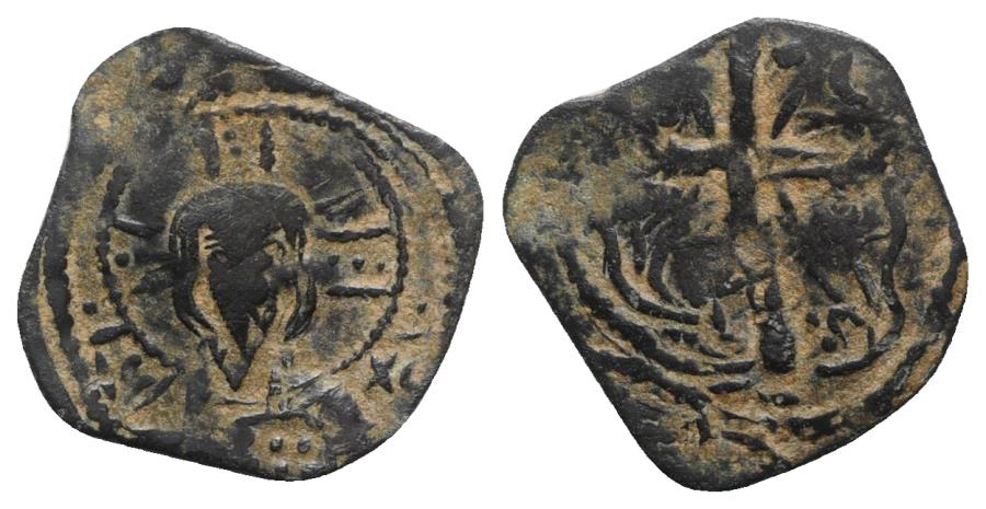 Ancient Coins - Crusaders, Edessa. Baldwin I or Baldwin II (First reign. 1098-1104). Æ Follis RARE