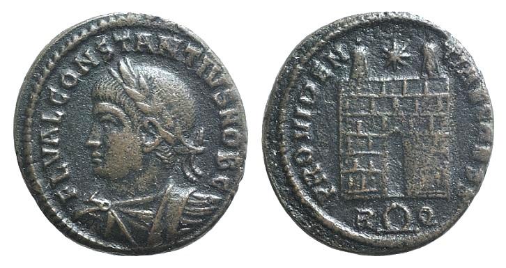 Ancient Coins - Constantius II (Caesar, 324-337). Æ Follis. Rome, 326.