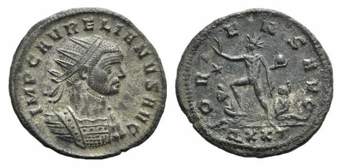 Ancient Coins - AURELIAN. 270-275 AD. Antoninianus. Ticinum mint. / ORIENS