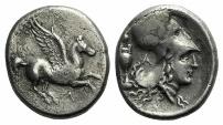Ancient Coins - AKARNANIA, Leukas. Circa 320-280 BC. AR Stater