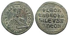 Ancient Coins - Leo VI (886-912). Æ 40 Nummi - Follis. Constantinople.