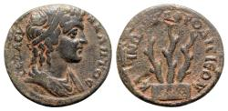 Ancient Coins - Caria, Aphrodisias. Pseudo-autonomous issue, time of Septimius Severus (193-211). Æ Assarion - Ti. Cl. Zenon, magistrate