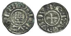 Ancient Coins - Crusaders, Latin Kingdom of Jerusalem. Baldwin III (1143-1163). BI Obol