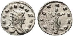 Ancient Coins - Gallienus (253-268). Antoninianus. Mediolanum, AD 264. R/ PIETAS