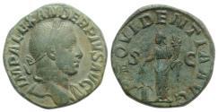 Ancient Coins - Severus Alexander (222-235). Æ Sestertius. Rome, AD 232.  R/ Providentia