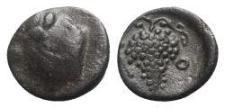 Ancient Coins - Cilicia, Soloi(?), c. 100-30 BC. Æ - Athena / Grapes