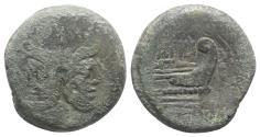 Ancient Coins - ROME REPUBLIC. M. Atilius Saranus, Rome, 148 BC. Æ As