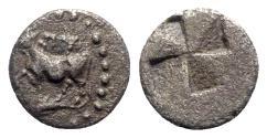 Ancient Coins - Thrace, Byzantion, 416-357 B.C. AR Diobol