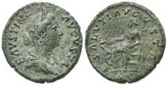 Ancient Coins - Faustina Junior (Augusta, 147-175/6). Æ As. Rome, 161-4.  R/ Salus