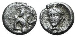 Ancient Coins - Cilicia, Uncertain, c. 4th century BC. AR Tetartemorion RARE