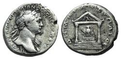 Ancient Coins - CAPPADOCIA, Caesaraea-Eusebia. Trajan. AD 98-117. AR Tridrachm. Dated Cos. 6 (AD 112-114). R/ TEMPLE