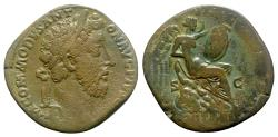 Ancient Coins - Commodus (177-192). Æ Sestertius - Rome - R/ Victory