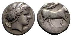 Ancient Coins - Southern Campania, Neapolis, c. 300 BC. AR Didrachm