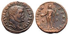 Ancient Coins - Galerius (305-311). Æ Follis - Alexandria - R/ Genius