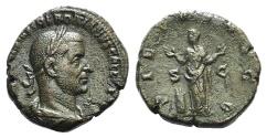Ancient Coins - Trebonianus Gallus (251-253). Æ Sestertius. Rome, 251-2.  R/ PIETAS