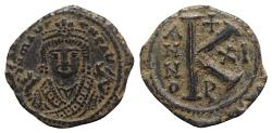 Ancient Coins - Maurice Tiberius (582-602). Æ 20 Nummi - Antioch, year 11