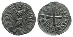 Ancient Coins - Crusaders, Antioch. Bohemund III (1163-1201). AR Denier