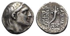 Ancient Coins - Seleukid Kings, Demetrios I (162-150 BC). AR Drachm