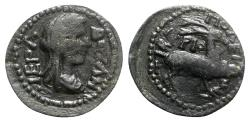 Ancient Coins - Phrygia, Tiberiopolis. Pseudo-autonomous issue, c. 3rd century AD. Æ - Boule / Stag - RARE