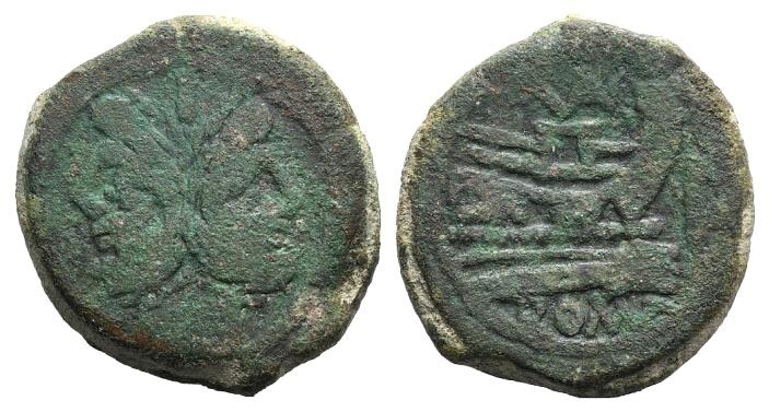 Ancient Coins - Rome Republic VAL series, Rome, c. 169-158 BC. AE As JANUS