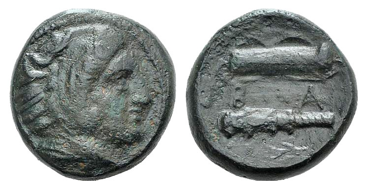 "Ancient Coins - Kings of Macedon, Alexander III ""the Great"" (359-336). AE 17mm. Uncertain Macedonian mint, c. 325-310."