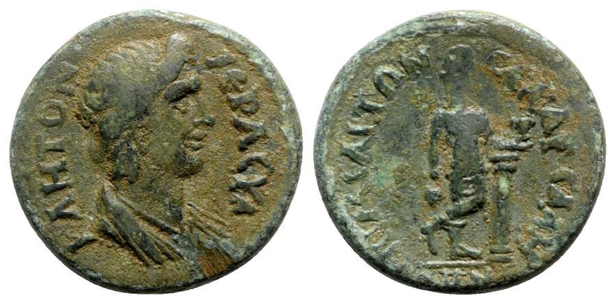 Ancient Coins - Lydia, Sala. Pseudo-autonomous issue, time of Trajan (98-117). Æ - Melitôn Sal, archon