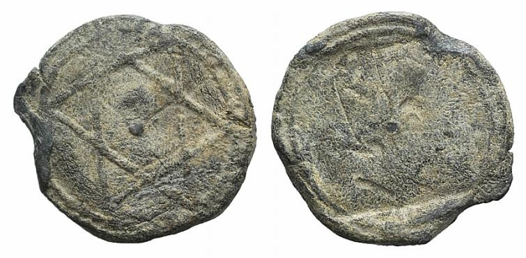 World Coins - Islamic Amulet lead, with geometric 6-pointed star