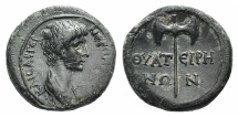 Ancient Coins - LYDIA, Thyatira. Nero, as Caesar. 51-54 AD. Æ 15mm R/ Double-bladed axe