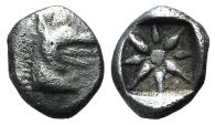 Caria, Kindya, c. 510-480 BC. AR Hemiobol