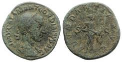 Ancient Coins - Gordian III (238-244). Æ Sestertius. Rome, AD 239. R/ Abundantia