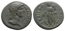 Ancient Coins - Lydia, Tripolis. Pseudo-autonomous issue, time of the Antonines (138-192). Æ - Demos / Tyche