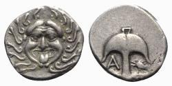 Ancient Coins - Thrace, Apollonia Pontika, c. 480/78-450 BC. AR Drachm