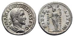 Ancient Coins - Maximinus I (235-238). AR Denarius - Rome - R/ Fides