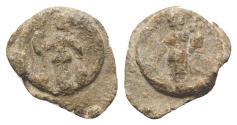 Ancient Coins - Roman PB Tessera, c. 1st century BC - 1st century AD. Minerva  R/ Fortuna