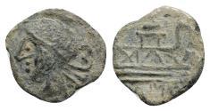 Ancient Coins - Roman Republican, Anonymous, 1st century BC. Æ Semis