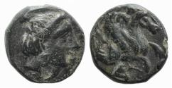 Ancient Coins - Mysia, Adramytion or Lampsakos (?), c. 4th-3rd century BC. Æ 9mm R/ Forepart of Pegasos