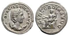 Ancient Coins - Otacilia Severa (Augusta, 244-249). AR Antoninianus - Rome - R/ Concordia