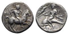 Ancient Coins - Southern Apulia, Tarentum, c. 272-235 BC. AR Nomos