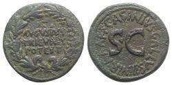 Ancient Coins - Augustus. 27 BC-AD 14. Æ Dupondius. Rome mint. C. Ascinius Gallus, moneyer. Struck 16 BC.
