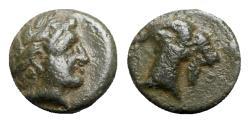 Ancient Coins - Aeolis, Aigai, 4th-3rd centuries BC. Æ - Apollo / Goat