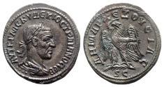 Ancient Coins - Trajan Decius (249-251). Seleucis and Pieria, Antioch. AR Tetradrachm - R/ Eagle
