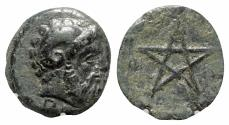 Ancient Coins - Mysia, Pitane, 4th-3rd centuries BC. Æ - Zeus / Pentagram
