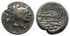 Ancient Coins - Roman Republic - Anonymous, Rome, 215-212 BC. Æ Quadrans