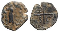 Ancient Coins - Crusaders, Antioch. Tancred (Regent, 1101-03, 1104-12). Æ Follis