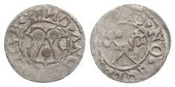 World Coins - Livonia, Riga. Thomas Schoning (1528-1539). BI Schilling 1538. Arms. R/ Crossed cross and sceptre