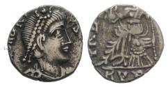 Ancient Coins - VANDALS. Gaiseric (?). 428-477. AR Siliqua. Carthage mint. Struck in the name of Honorius, circa AD 455-476.