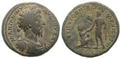 Ancient Coins - MARCUS AURELIUS. 161-180 AD. Æ Sestertius. Struck 172-173 AD. R/ RESTITVTORI ITALIAE  RARE