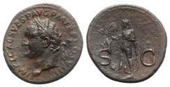 Ancient Coins - Titus (Caesar, 69-79). Æ As. Rome, 80-1. R/ SPES